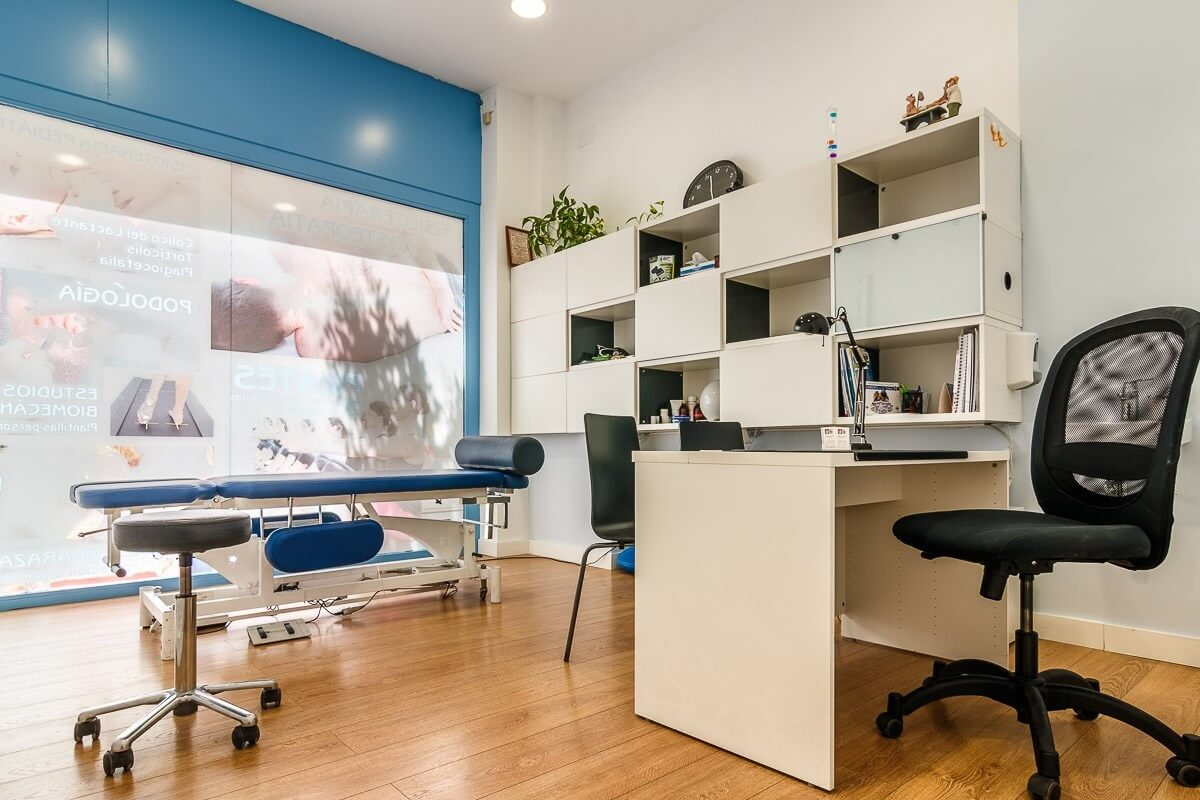 Oficina preparada para masaje